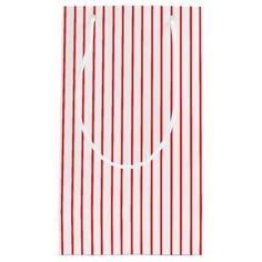 Red and White Pinstripe Gift Bag