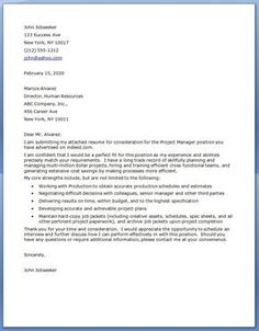 Construction Management Cover Letter Buenjin Buenjin9153 On Pinterest