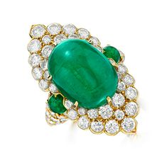 FD Gallery   An Emerald and Diamond Ring, by Van Cleef & Arpels, circa 1970