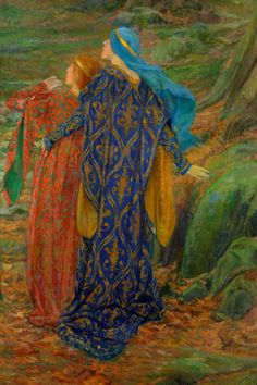 In Awe Edwin Austin Abbey , I love the work of these late pre-raphaelites, who wallow in a romanticized vision of medieval life
