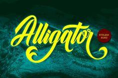 Alligator (Font) by Musafir LAB · Creative Fabrica Alligator is a versatile script font which includ Vintage Fonts, Vintage Typography, Graphic Design Typography, Graphics Vintage, Vector Graphics, Fancy Fonts, New Fonts, Elegant Fonts, Cursive Fonts