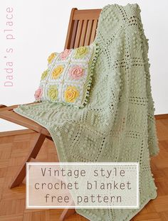 First, I want to thank you all for your kind comments on my previous post. I'm so glad you like my vintage style crochet blanket! So, as promised, I set down and wrote the pattern.  Just a few words b