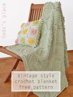 Dada's place: Vintage Style Crochet Blanket Pattern