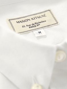 Classic Shirt Solid with Pocket Flannel, by Kitsuné. Shirt Label, Label Tag, Fashion Tag, Fashion Labels, Tag Design, Label Design, Digital Paper Free, Digital Papers, Digital Scrapbooking