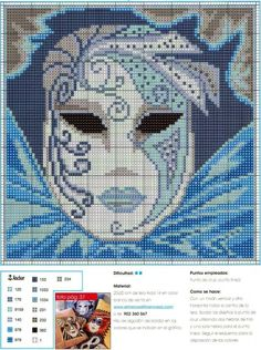 Mask pattern x-stitch Cross Stitch Pillow, Cross Stitch Heart, Beaded Cross Stitch, Counted Cross Stitch Patterns, Cross Stitch Designs, Cross Stitch Embroidery, Cross Stitch Numbers, Cross Stitch Boards, Cross Stitch Pictures