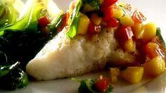 Filets de poisson, salsa de tomate, mangue et jus de pamplemousse - Recettes - À la di Stasio
