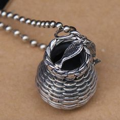 Sterling Silver Fish Basket Necklace - Jewelry1000.com