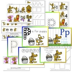 "Puppy Preschool Theme    This blog has awesome free printables for preschool that are easy easy easy to download and print.  confessionsofahomeschooler.com and go to ""My printables""  (Then try not to spend too much time loving all she has on there!)"
