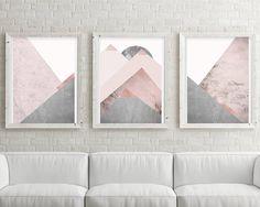 Printable Art Downloadable Prints Set of 3 Prints Mountain