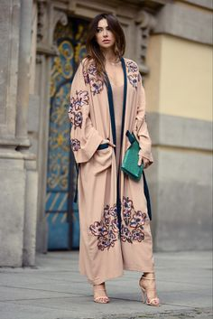 Embroidered kimono coat. Boudoir look by yoschimoto. www.yoschimoto.com
