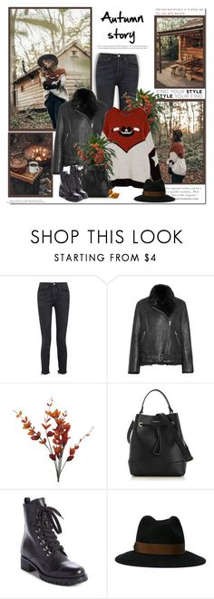 """Autumn story!!"" by lilly-2711 ❤ liked on Polyvore featuring RE/DONE, IRO, Furla, Prada, Dsquared2 and H&M"