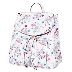 Parfois   bloemen rugtas , Wit/roze/lichtblauw Purses And Handbags, Leather Backpack, Floral Outfits, Backpacks, My Style, Fashion, Bags, Accessories, Moda