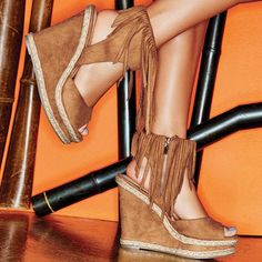 mark. Here To Sway Wedges #shoes #sandals #wedges #fringe