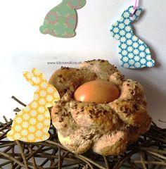 Flettet brød med æg