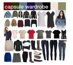 """capsule wardrobe fall -- complete set"" by clarabellum ❤ liked on Polyvore featuring Yves Saint Laurent, J.Crew, AX Paris, Warehouse, Haute Hippie, American Apparel, dVb Victoria Beckham, Frame Denim, Topshop and Pilot"