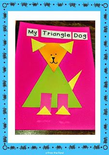Free Paper Craft : Triangle Dog