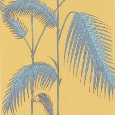Papier peint - Cole and Son - Palm Leaves  - Yellow & Teal