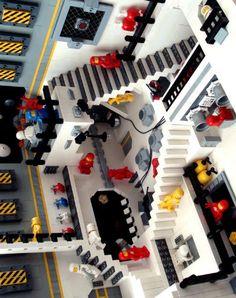 Lego scene in space inspired by MC Escher