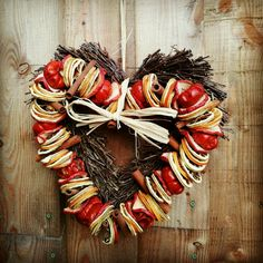 Dried fruit wreath. Would smell divine.
