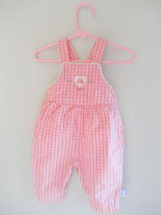 Pink Baby Overalls Vintage Clothing Baby Girl by ThePoshBabyShoppe@etsy