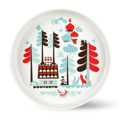 Gorgeous Tingleby Porcelain Plate. What a wonderful way to entice your children to join the dinner party. Comes in a reusable gift box. 31cm in diameter, 4 cm high.