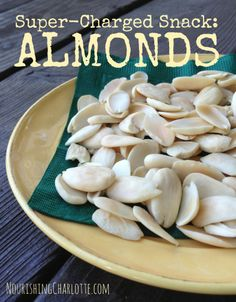 Super-Charged Snack: Almonds {Soaked & Dehydrated}  | RealFoodCarolyn.com