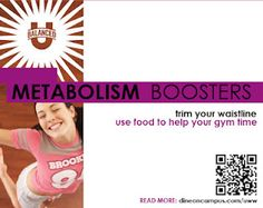What can you do to trim your waistline & shorten gym time? BOOST your metabolism!