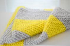 Modern Merino Wool Hand-Knit Baby Blanket / by TheLoveliestLamb