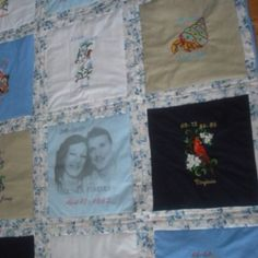 My life quilt, embroidered state for all I lived on.