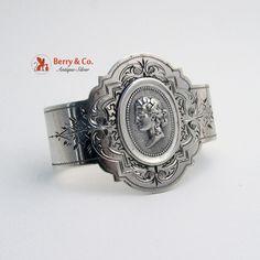 Medallion Coin Silver Napkin Ring 1860