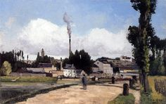 By the Oise at Pontoise: 1867