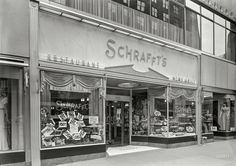 "December 1, 1940. ""Schrafft's, 625 Madison Avenue, New York. Exterior.""  Gottscho-Schleisner.  Shorpy Historic Picture Archive"