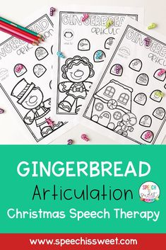 This Gingerbread articulation activity is perfect for Christmas or Winter speech therapy sessions. These NO PREP articulation sheets will save you precious time while your students enjoy the activity. This packet contains various speech sounds in the initial and medial position. There are also pages that contain /s/ blends, /r/ blends, and /l/ blends. | Speech is Sweet Articulation Activities, Speech Therapy Activities, Language Activities, Speech Language Therapy, Speech And Language, Christmas Speech Therapy, Therapy Ideas, Christmas Themes, Literacy