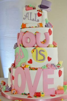 #LoveIsAllYouNeed  Recent wedding cake at #TheGreatHallatMains