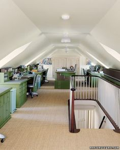 """A craft room or in this case attic belonging to Martha Stewart in Bedford NY. See the """"A Creative Refuge"""" in our  gallery"""