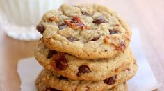 Sweet and salty candied bacon makes these chocolate chip cookies anything but ordinary.
