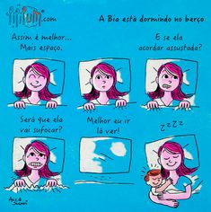 Cama Compartilhada com Seguranca Doula, Pregnancy, Comics, Babys, Future, Inspiration Quotes, Pregnancy Quotes, 2 Month Old Baby, Tired Mom
