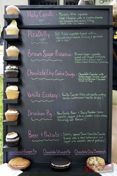 Cup cake menu. Ideas and inspiration for cafes, coffee shops, tea shops, cake shops and delis.