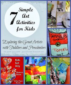 The Good Long Road: We Love Kids Get Arty: Exploring the Great Artists with Toddlers and Preschoolers