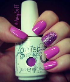 My #Gelish mani I did on myself for this week! #AmyGoff