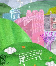 #illustration #childrensillustration #kidslit #puddle #landscape