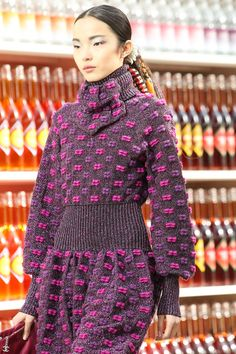 Chanel | Fall 2014 Ready-to-Wear Collection | Style.com  >>More Chanel that is clearly Bauhaus influenced---especially since the pattern is woven.