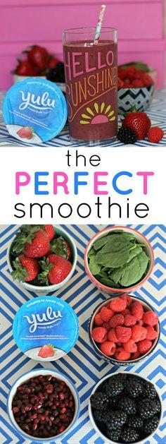 The perfect smoothie recipe! | Ashley Brooke by @ashleynicholas
