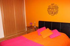 Suite em tons laranja e rosa