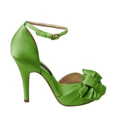 Lime green dress shoes in Women's Shoes - Compare Prices, Read Green Apple Wedding, Green Wedding Shoes, Bridesmaid Shoes, Prom Shoes, Green Bridesmaids, Green Dress Shoes, Green Pumps, Nina Shoes, Satin Shoes