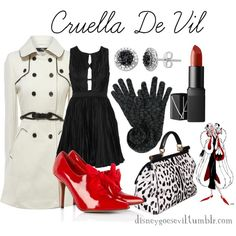Cruella De Vil, created by disney-villains on Polyvore