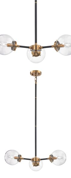 The magic of bohemian style is waiting behind the candelabra. This beautiful chandelier is designed with a mix of matte black and antique gold accents for a luxe take on modern lighting. Three circular...  Find the Trinity Candelabra, as seen in the Bohemian Meets Mid-Century Collection at http://dotandbo.com/collections/bohemian-meets-mid-century?utm_source=pinterest&utm_medium=organic&db_sku=120261