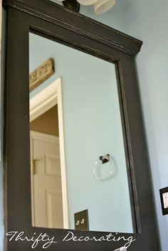 Frame your bathroom mirror.