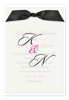monogram invitation