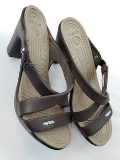 11bb97ebe5ac5 Crocs Cyprus IV Brown Taupe 14558 Womens Sandals Size 8 US w 3.5 Heels   fashion